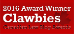 2016 Canadian Law Blog Awards Winner